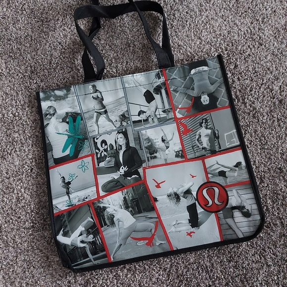 Lululemon shopping tote bag. French Quotes. BNWOT